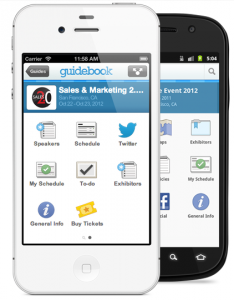 guidebook app for sales & marketing 2.0 conference